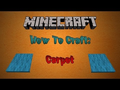 How To Craft Carpet in Minecraft (Craft Guide Tutorial)