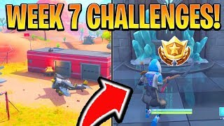 FORTNITE ALL WEEK 7 CHALLENGES! - Expedition Outposts Locations, Star (Battle Royale Season 7 Guide)