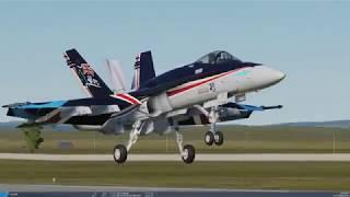 DCS: RAAF F/A-18C Hornets & Blue Angels formation Landing