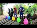 ไข่เซอร์ไพรส์ของ Superhero | สไลเดอร์รถของเล่น วีดีโอสำหรับเด็ก