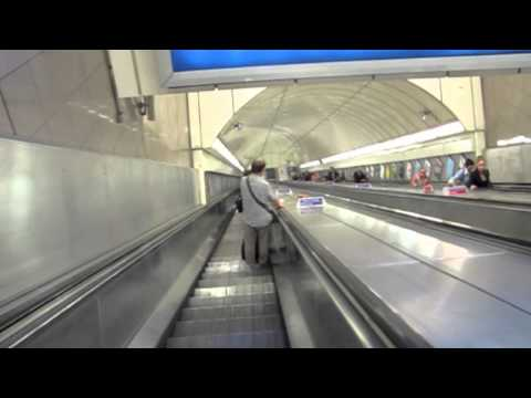 London Underground - Longest Escalator in Angel Station