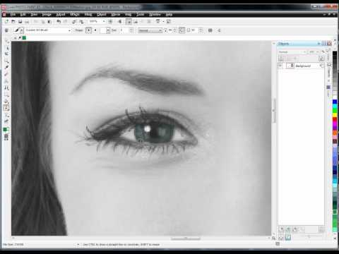 Corel PhotoPaint - Colorizing a Photo (Eyes)