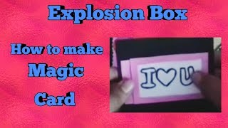 How to make Magic Card, Explosion Box