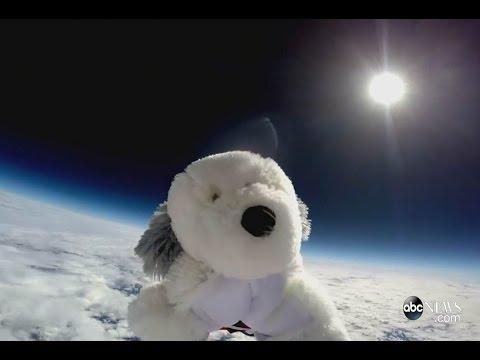 ぬいぐるみにカメラを付けて成層圏に飛ばす!