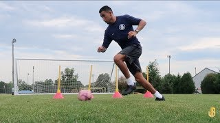 Full Individual Session - Soccer Drills For Strikers and Center Mids!