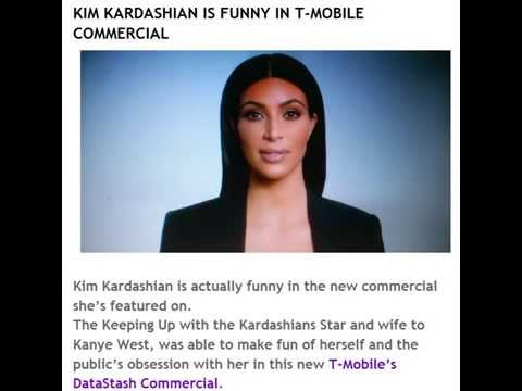 KIM KARDASHIAN IS FUNNY IN T-MOBILE COMMERCIAL