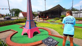 Trying Our Hardest For A Mini Golf Hole In One At This Old School Course!