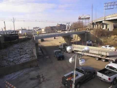 St. Louis Vandeventer Bridge Demolition and Reconstruction Time-Lapse