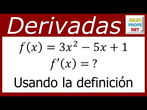 Derivada de una función usando el límite-Derivative of a fuction using the limit