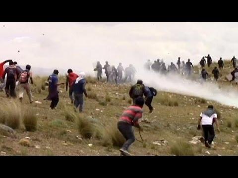 Peru'da şiddetli öğrenci eylemleri
