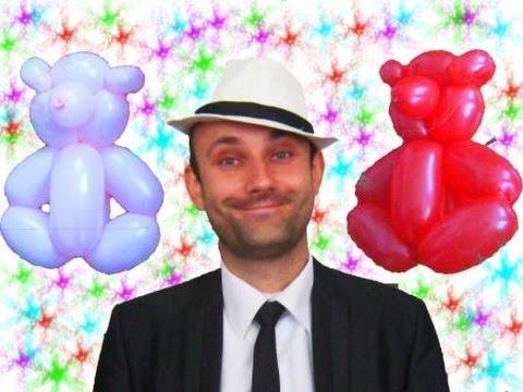 Мишка из шариков шдм