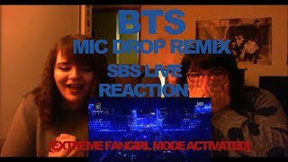 BTS - MIC DROP REMIX SBS LIVE REACTION [EXTREME FANGIRL MODE ACTIVATED]