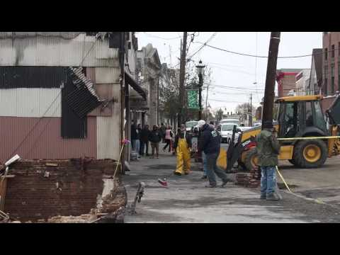 Demolition continues after fire ripped through five businesses in KeyportDemolition continues after