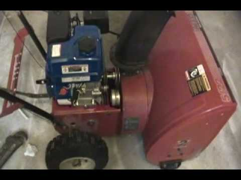 6 5 hp harbor freight snow blower engine swap on my mtd for Harbor freight blower motor