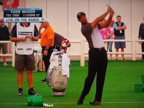 Tiger Woods - Warm-Up Routine (2014 Dubai Desert Classic)