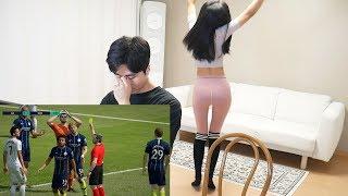 韩国淘气弟弟带姐姐玩FIFA是什么体验, 姐姐一打网游就暴露了真实人品 누나 인성을 폭로합니다