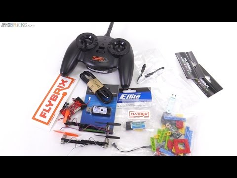 FlyBrix RC LEGO quadcopter kit Unboxed (alpha pre-release)