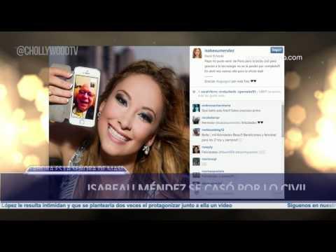 Isabeau Méndez se caso por lo civil
