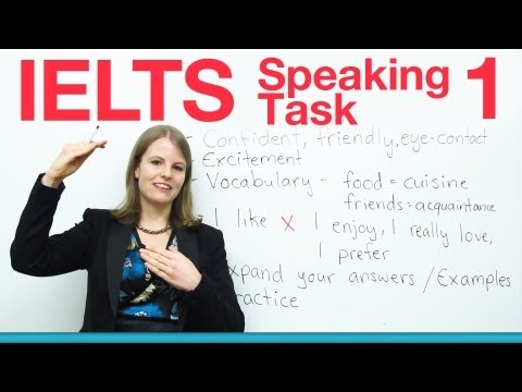 Ielts Speaking Task 1 - How To Get A High Score video