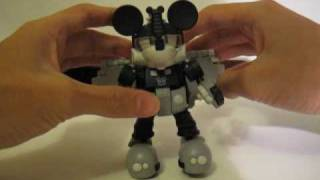 Transformers Disney Label Mickey Mouse Review (Monochrome Version)