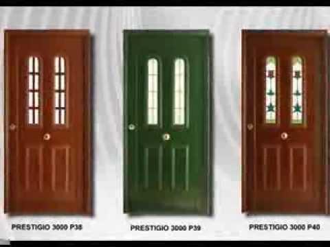 Puertas de seguridad en aluminio alusegurit youtube for Precio de puertas para casa