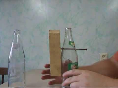 Прикол. Как пробить бутылку гвоздем?