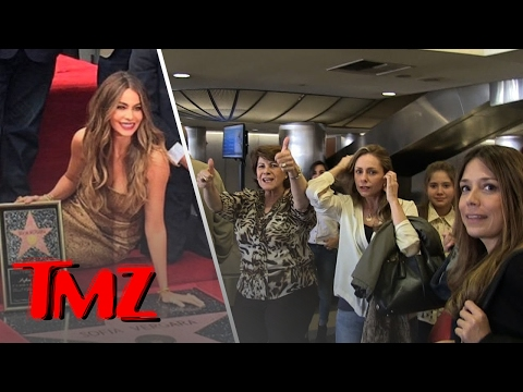 Sofia Vergara's family is in town to see her get her own star!