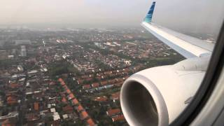 Garuda Indonesia PK-GFR landing at Juanda Airport in Surabaya