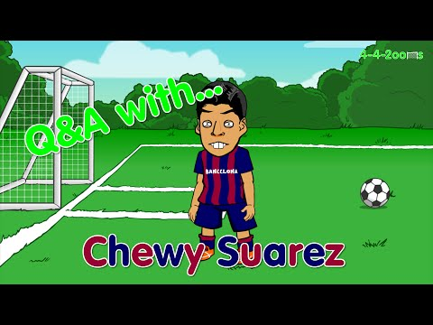 LUIS SUAREZ Q&A with 442oons fans (bite, interview, cartoon, Barcelona, crying, goal, highlights)