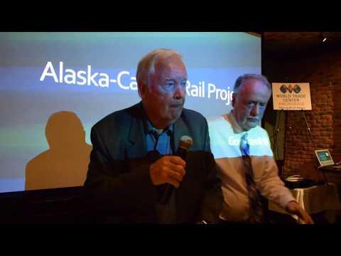 Frank Murkowski, former Alaska governor, presents Alaska Canada railroad project