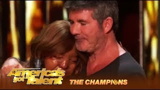 Kechi Miracle Girl Gets Simon Cowell 39 S Most Emotional Golden Buzzer Agt Champions