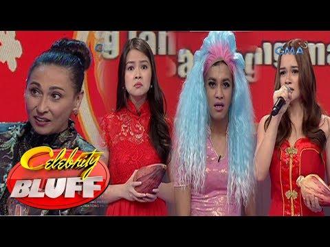 Celebrity Bluff:  Cherie, Barbie, Yasmien,  at Boobay, nagtapatan sa saging workshop
