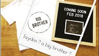 I'm Pregnant !!! Baby Jayden is going to be a big brother soon !