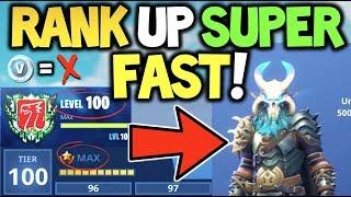 How To Tier Rank Up Super Fast In Fortnite Season 4 Zero V