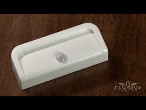 Wireless Motion Sensor LED Mini Stick Anywhere Battery Operated Night Lights