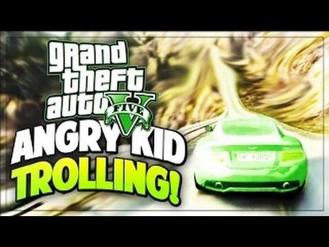 GTA 5 ANGRY KID WANTS TO FIGHT! (GTA 5 TROLLING!)