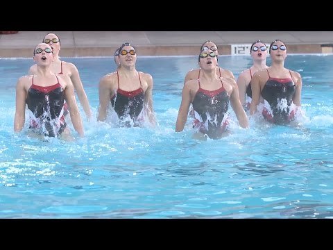 Ashley Adamson dives into synchronized swimming with the Cardinal