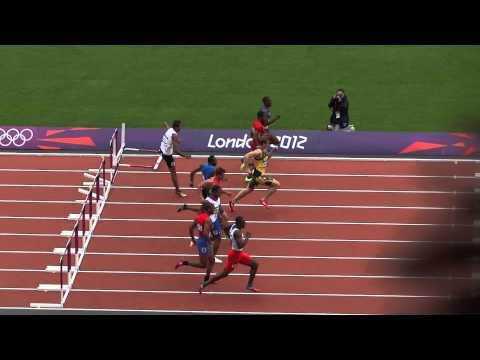 Dayron Robles Wins Olympic 2012 110m Hurdles Rd 1! (Filmed in HD, Live in the Stadium)