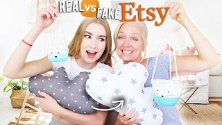 Mom Judges REAL Etsy Products VS. The Ones I Made!!