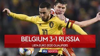 Eden Hazard scores twice! | Belgium 3-1 Russia | Highlights | UEFA Euro 2020 Qualifiers