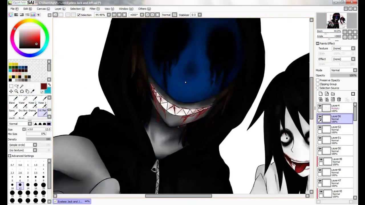 Jeff The Killer And Eyeless Jack Drawing Jack And Jeff The Killer