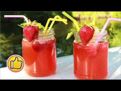 Лимонад из Клубники, Ах.. как Охлаждает!   Strawberry Lemonade Recipe