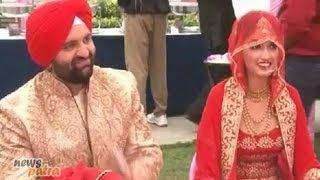 Hansraj Hans's Son and Daler Mehndi's daughter Ajit Kaur wedding reception party in Gurgaon