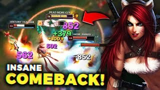 how i saved this doomed game with one NUCLEAR katarina play