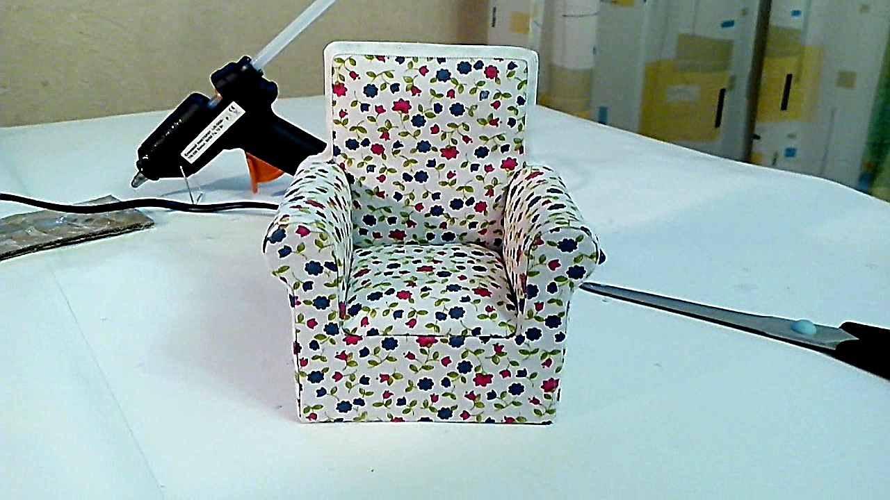 Как сделать кресло своими руками кукле 1