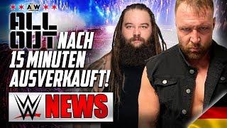 AEW All Out ausverkauft in 15 Minuten!, Bray Wyatt heute bei RAW    WWE NEWS 49/2019