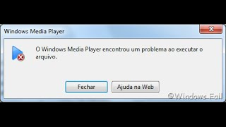 Como resolver problema do windows media player