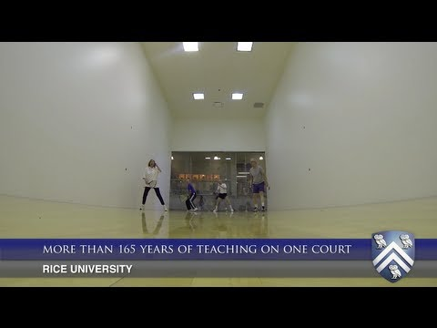 More than 165 years of teaching experience at Rice University on one racquetball court
