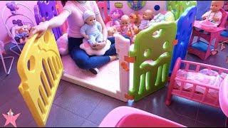 Un DÍA ENTERO con mis bebés en la GUARDERÍA Muñecas y Juguetes