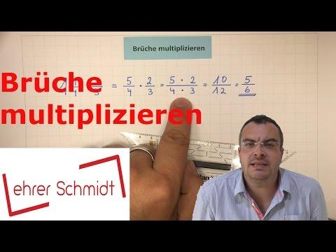 Brüche multiplizieren   Bruchrechnung   Mathematik   Lehrerschmidt